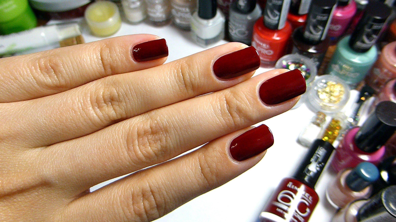 Красные наращивание ногтей